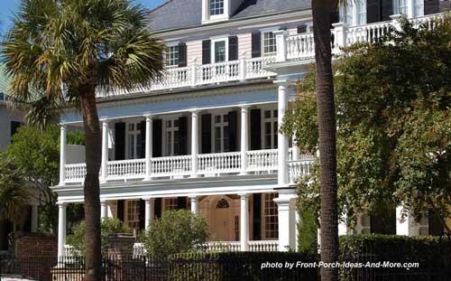 expansive front porches