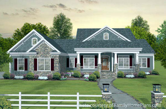 charming online house plan with front porch by familyhomeplans.com