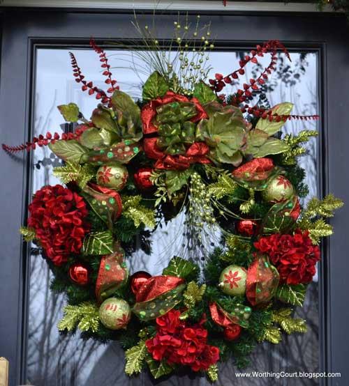 sophisticated Christmas door wreath