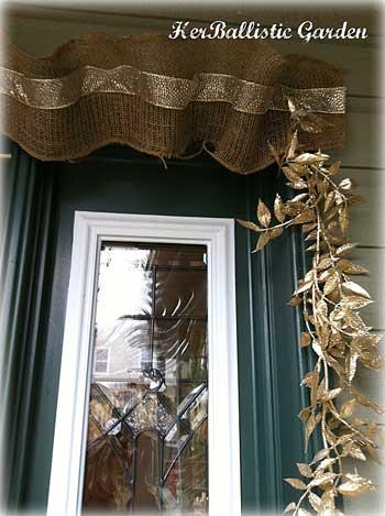 burlap Christmas garland