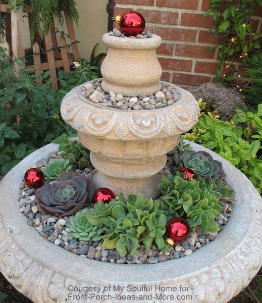 My Soulful Home - beautiful fountain on porch