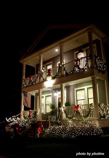 Christmas light ideas - see the cute snowman