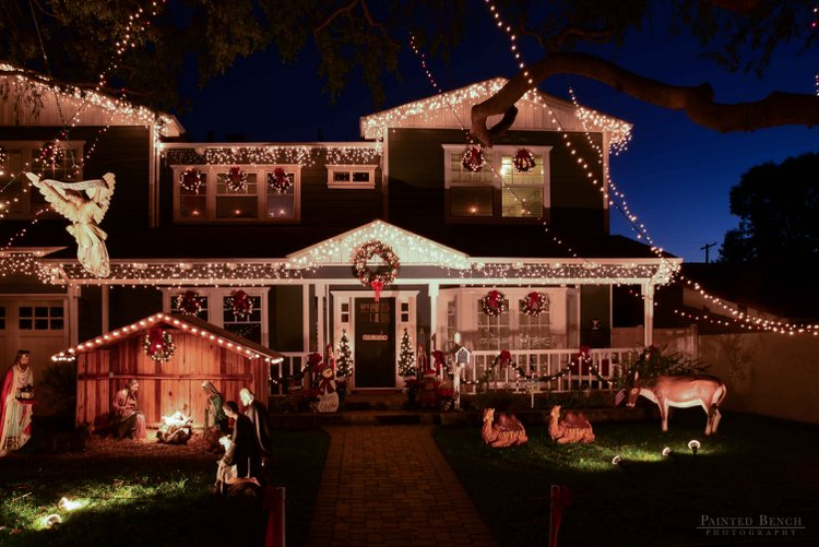 Outside Christmas Light Ideas Houses Decorated With
