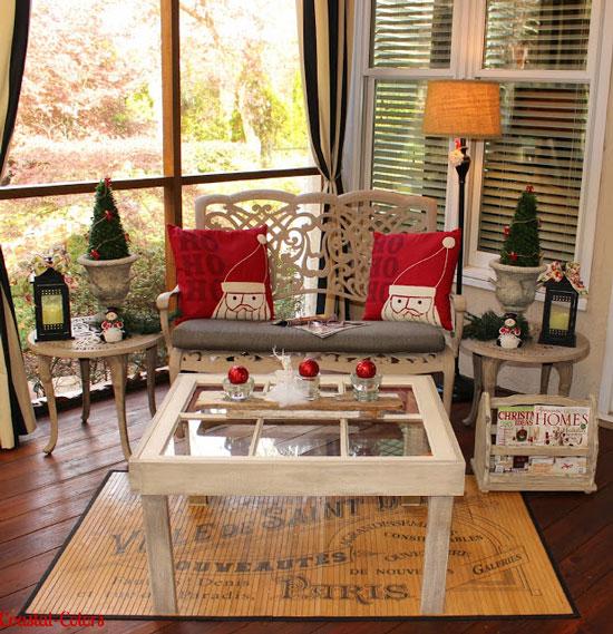 Christmas porch courtesy of Coastal Colors