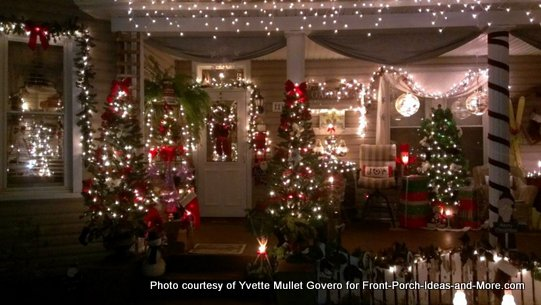 outdoor christmas light decorating ideas for porch and yard