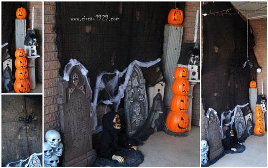 Circa 1928 Scary Halloween Porch