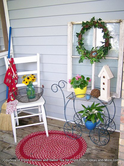 A very colorful corner of Chanda's porch