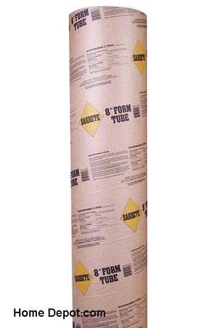 Sakrete concrete form tube