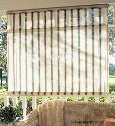 shades in sunroom for window treatments