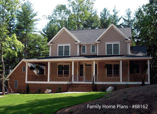 country home design with large entrance and front porch