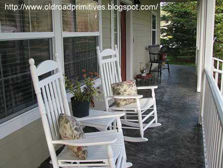 Kimberly's country porch