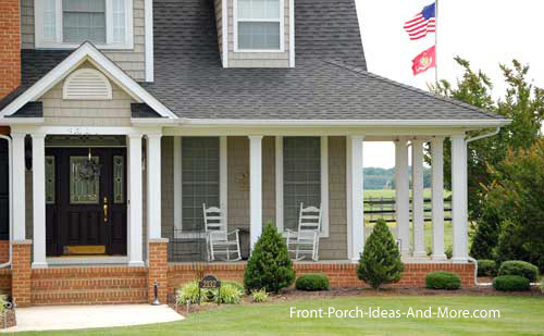 Country home designs country porch plans country style for House plans with porch across front