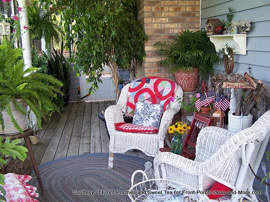 Colorful summer country porch - another view