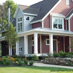 wide country porch with square columns