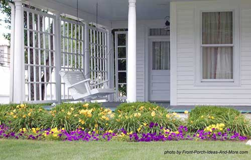 Open country porch with wind breaker panels