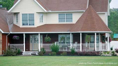 Contemporary farm house porch