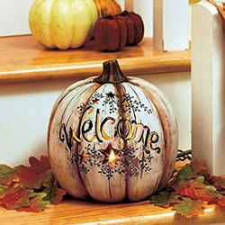 lighted country heart pumpkin