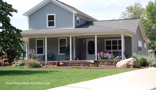 typical open country style porch