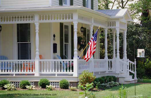 Beautiful country wrap around porch