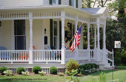 Beautiful country wrap around porch