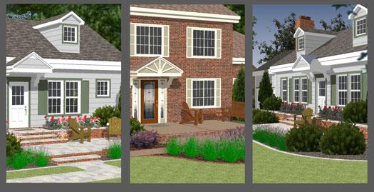 front porch designs illustrator