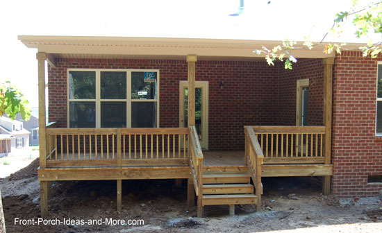 completed covered porch