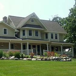 beautiful farmhouse porch remodel