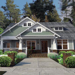 arts and crafts home plan with spacious front porch