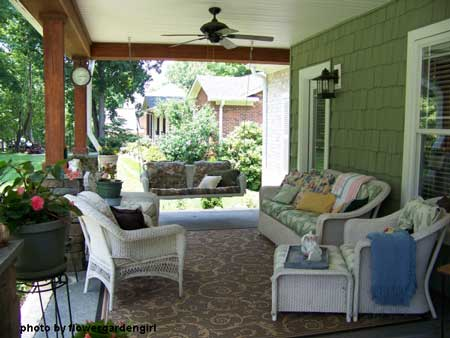 Craftsman style front porch