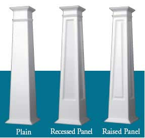 Craftsman PVC Columns example