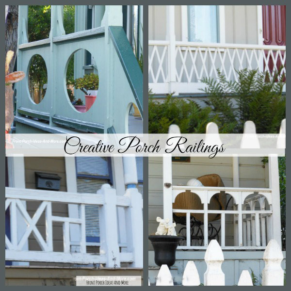 four different porch railing styles