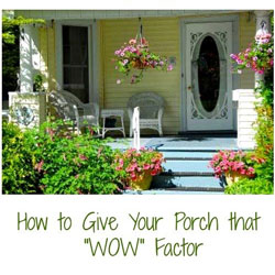 curb appealing front porch