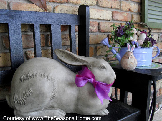 Cutest bunny on porch - The Seasonal Home