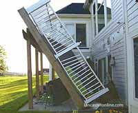 collapsed deck from poor construction