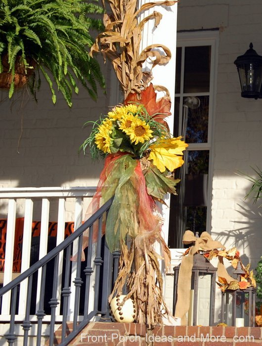 Tie cornstalks to your porch railings or porch stairs