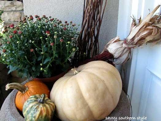 impressive fall pumpkin arrangement