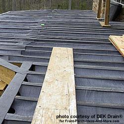 waterproofing a deck with Dek Drain