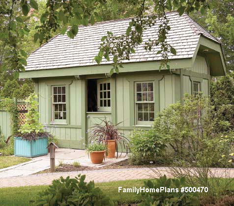 backyard shed plan from familyhomeplans.com