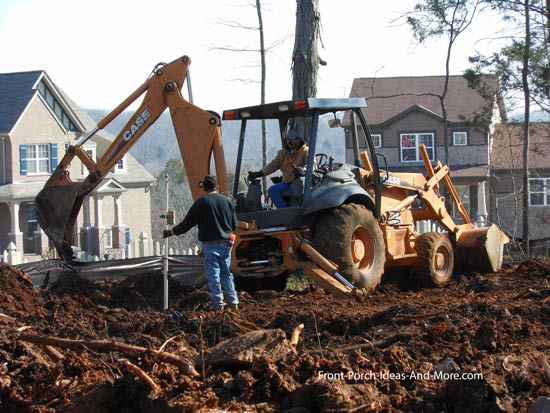 digging footings for foundation