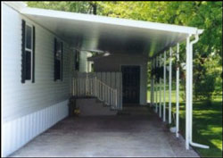 carport attached to mobile home