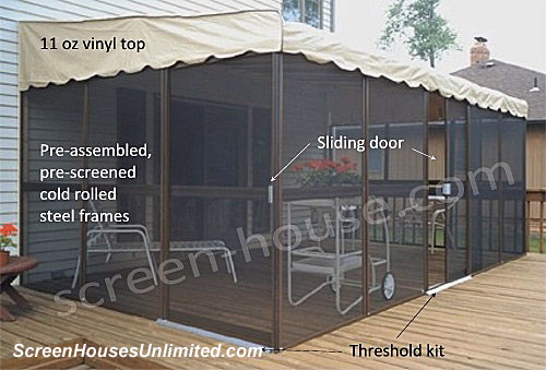 patio mate for deck or patio by screenhousesunlimited
