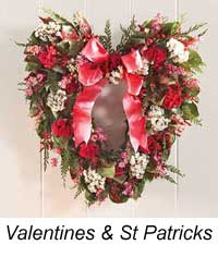 valentine decorated wreath