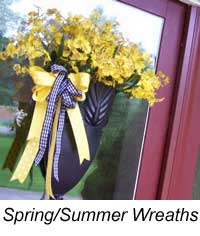 spring and summer decorated wreaths