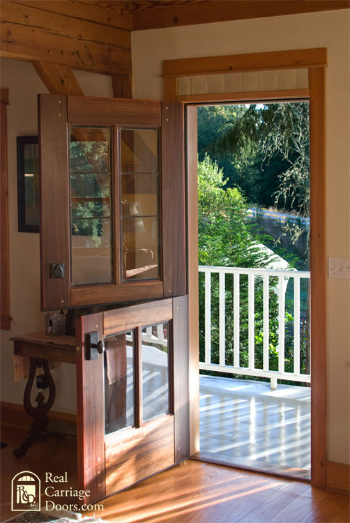 leaded glass dutch front door by Real Carriage Doors.com