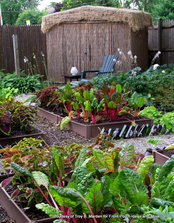 use sunniest spots to grow vegetables