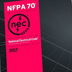 photo of cover of 2017 electrical codes book