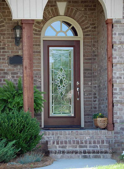 fabulous front door with etched design in glass