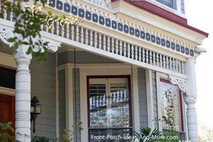 Gingerbread trim on beautiful front porch