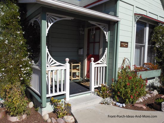 innovative use of exterior house trim on porch