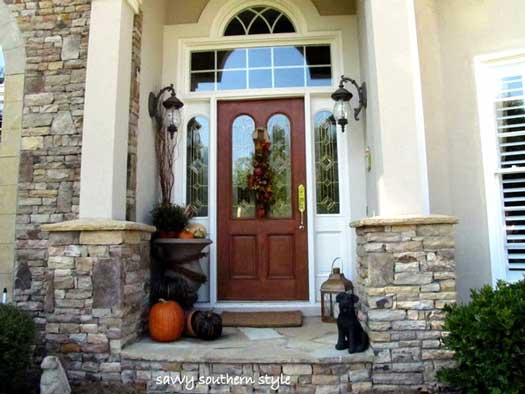 Fall Decorations - Kim's lovely front porch